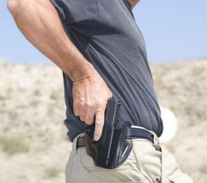 Man Drawing Gun