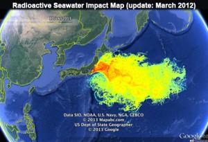 Radioactive Seawater Map