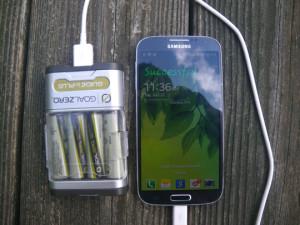 Samsung Galaxy S4 Charging on Goal Zero