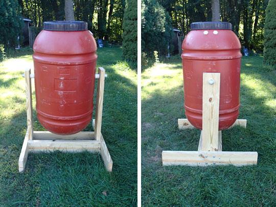 Barrel Composter Front Side Views