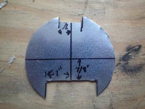 Circle plate first cut