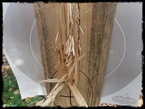 Shooting through wood