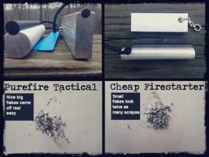 Purefire tactical fire starter comparison