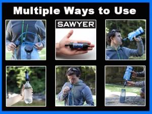 Sawyer Mini Filter Uses