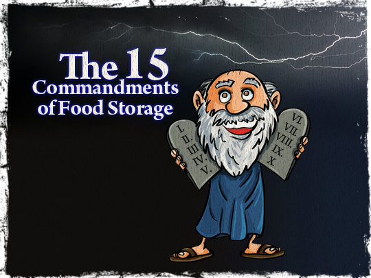 The 15 Commandments of Food Storage