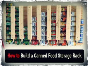 Canned Food Storage Rack