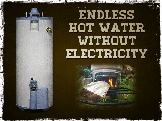 Endless Hot Water Without Electricity Preparing For Shtf