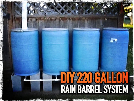 diy 220 gallon rain barrel system preparing for shtf