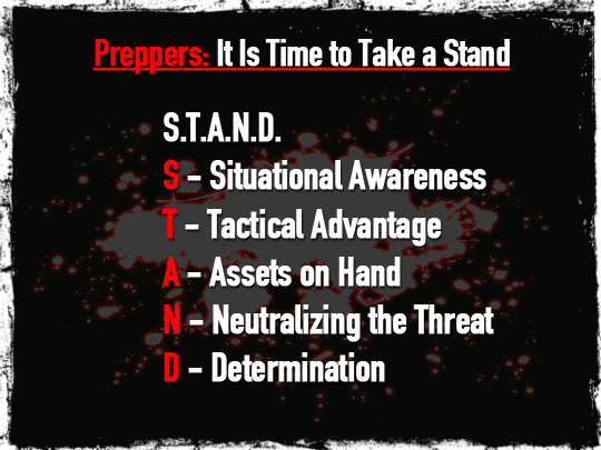 Preppers: It Is Time to Take a Stand