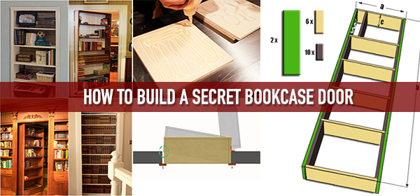 how to build a secret bookcase door. Black Bedroom Furniture Sets. Home Design Ideas