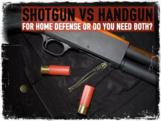 Shotgun vs Handgun Home Defense