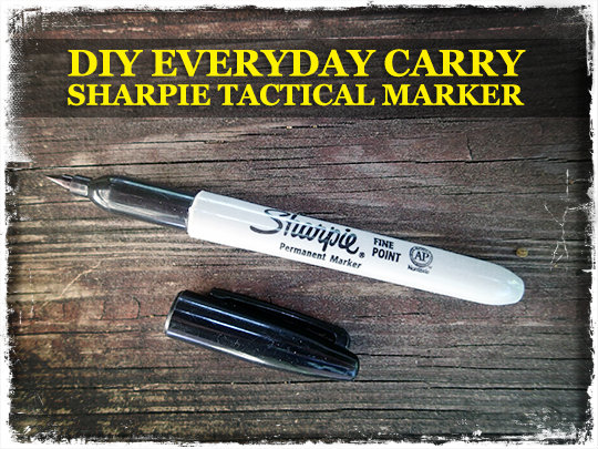 DIY Everyday Carry Sharpie Tactical Marker - Preparing for shtf