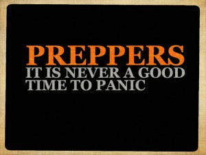 Never a good time to panic