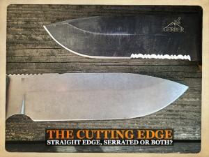 straight edge or serrated edge