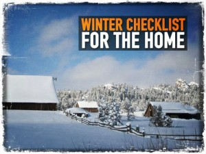 Winter Checklist for the Home