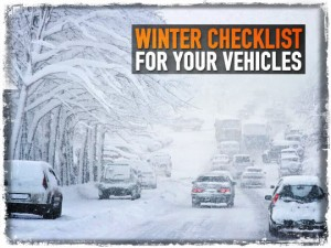 Winter Checklist Vehicles
