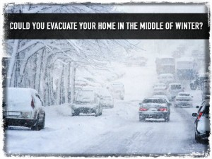 Evacualte Home In Winter