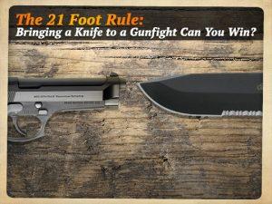 21 Foot Rule Gun vs Knife