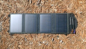 Solar charging goTenna