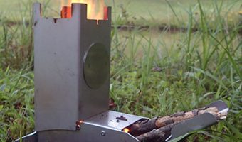 Hot Ash Wood Burning Rocket Stove