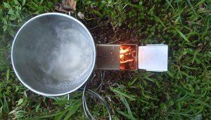 HotAsh Rocket Stove Boiling Water