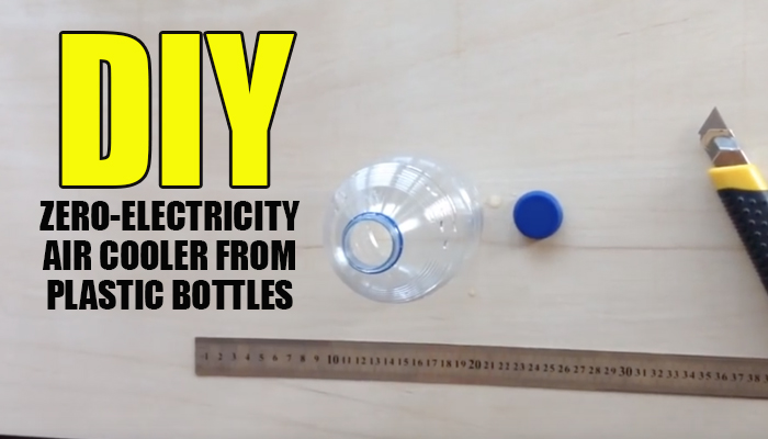Diy Zero Electricity Air Cooler From Plastic Bottles