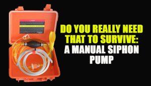 Manual Siphon